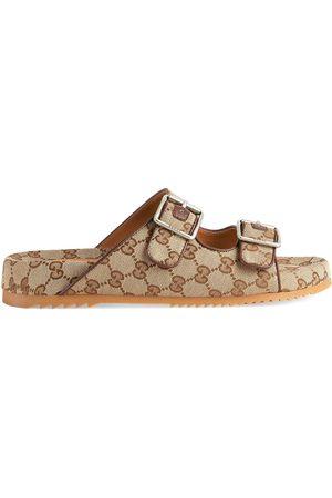 Gucci Men Mules - GG Supreme-print mule sandals - Neutrals