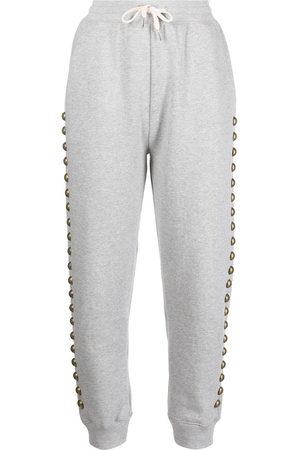 Cynthia Rowley Women Sports Pants - Stud-detail drawstring tracksuit bottoms - Grey
