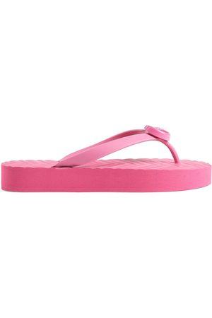 Gucci Women Flip Flops - GG rubber flip flops