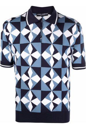 Dolce & Gabbana Men Polo Shirts - Geometric-pattern polo shirt