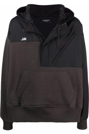 VAL KRISTOPHER Half-zip two-tone hoodie