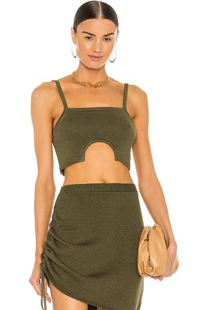 JoosTricot Half Moon Cami in Olive.