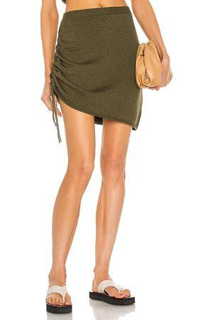 JoosTricot String Mini Skirt in Olive.