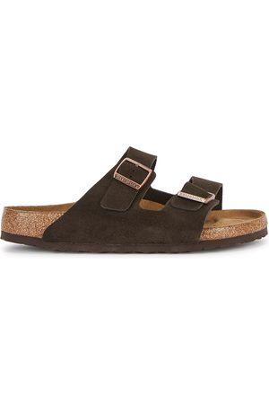 Birkenstock Men Sandals - Arizona dark suede sliders