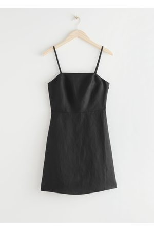 & OTHER STORIES Women Bodycon Dresses - Fitted Linen Blend Mini Dress