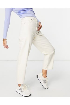 & OTHER STORIES & Major organic cotton high waist tapered leg jeans in ecru-Neutral