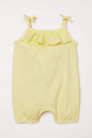 H&M Baby Rompers - Flounce-trimmed Romper Suit