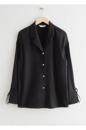 & OTHER STORIES Relaxed Cuff Tie Blouse