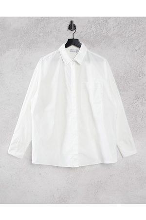 ASOS Fuller Bust long sleeve boyfriend shirt in cotton in