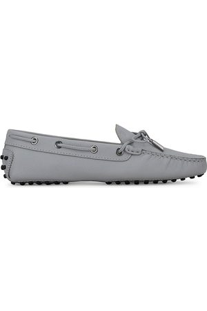 Tod's Women's Heaven Gommini Leather Driving Loafers - Grey - Size 11