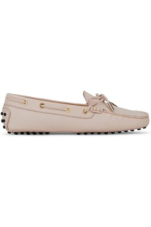 Tod's Women's Heaven Gommini Leather Driving Loafers - Blush - Size 10.5