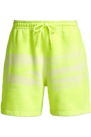 Alexander Wang Women's Garment-Dye Neon Sweatshorts - Neon Celandine - Size Small