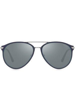Prada Men's 59MM Aviator Sunglasses - Matte Gunmetal