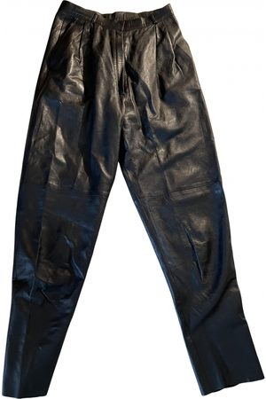 Valentino by Mario Valentino \N Leather Trousers for Women