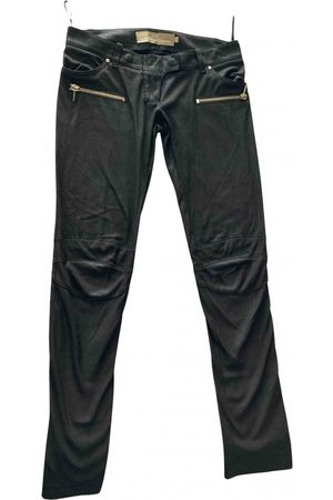 Elisabetta Franchi \N Vegan leather Trousers for Women