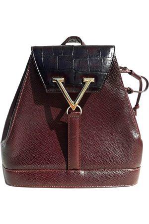 VALENTINO GARAVANI Women Rucksacks - VINTAGE VLogo Leather Backpack for Women