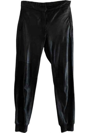 MM6 Women Leather Pants - \N Leather Trousers for Women