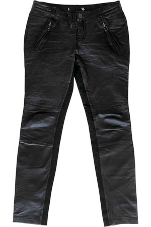 Gestuz Women Leather Pants - \N Leather Trousers for Women