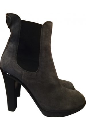 Voile blanche Women Ankle Boots - \N Suede Ankle boots for Women