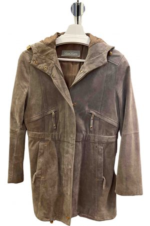 Max Mara Women Leather Jackets - \N Suede Leather Jacket for Women