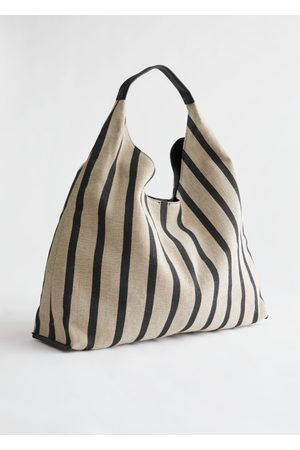 & OTHER STORIES Striped Jute Blend Triangle Bag