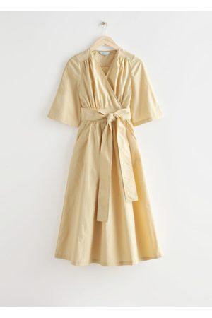 & OTHER STORIES Voluminous Midi Wrap Dress