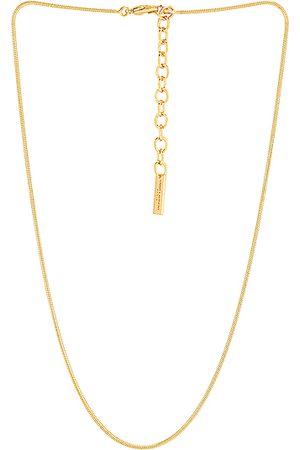 Saint Laurent Snake Chain Necklace in Metallic