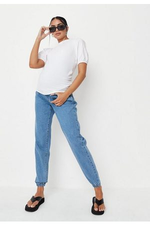 Missguided Poplin Puff Sleeve Maternity T Shirt