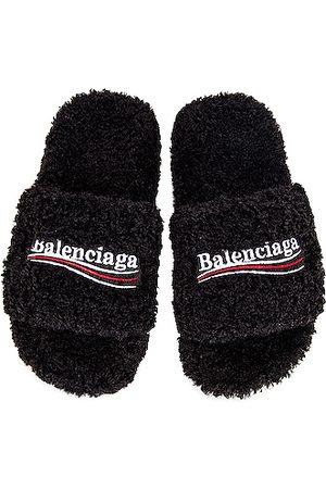 Balenciaga Furry Slippers in
