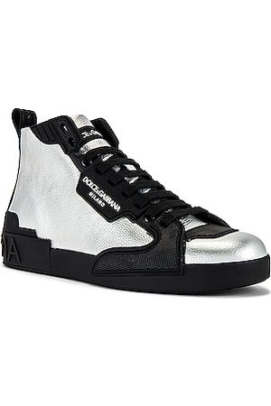 Dolce & Gabbana Portofino Sneakers in Metallic