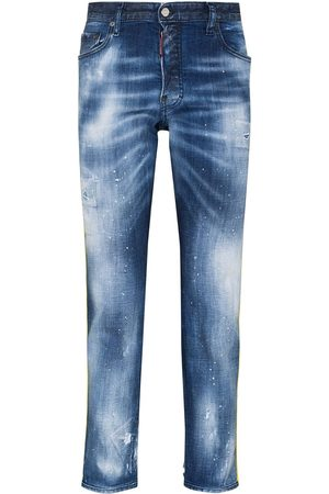 Dsquared2 Men Slim - Skater logo-tape slim jeans