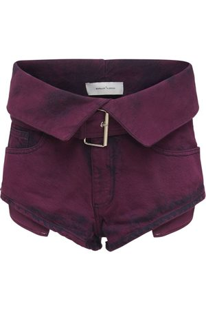 MARQUES'ALMEIDA Organic Cotton Denim Belted Shorts