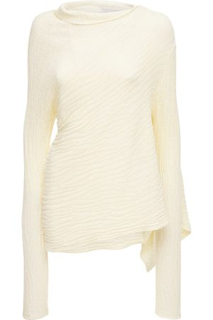 MARQUES'ALMEIDA Women Turtlenecks - Recycled Cotton Knit Turtleneck Sweater