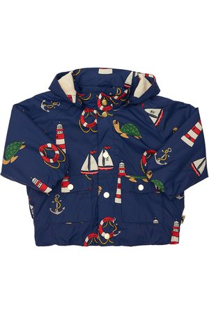 Mini Rodini Girls Puffer Jackets - Recycled Nylon Puffer Jacket W/ Hood