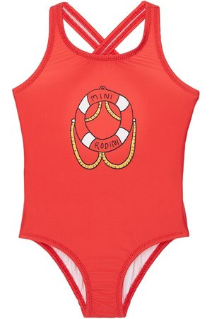 Mini Rodini Girls Swimsuits - Recycled Lycra One Piece Swimsuit