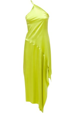 MARQUES'ALMEIDA Asymmetric Silk Crepe Midi Dress