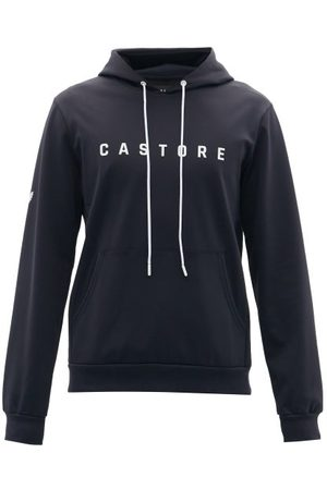 CASTORE Logo-print Technical-jersey Hooded Sweatshirt - Mens - Navy
