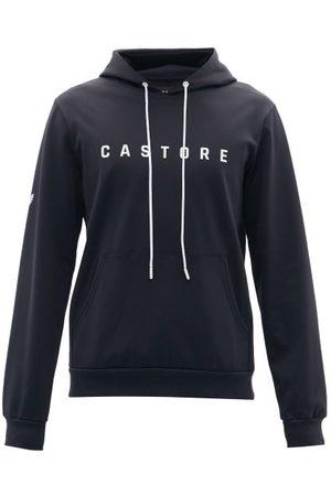 CASTORE Men Sweatshirts - Garcia Logo-print Jersey Hooded Sweatshirt - Mens - Navy