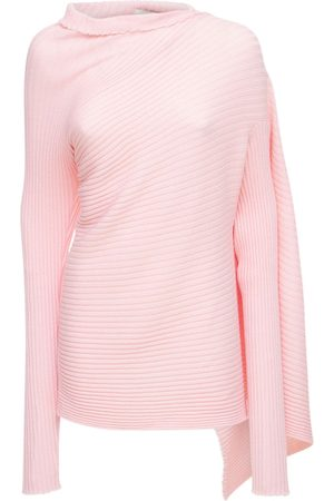 MARQUES'ALMEIDA Women Turtlenecks - Draped Wool Knit Turtleneck Sweater