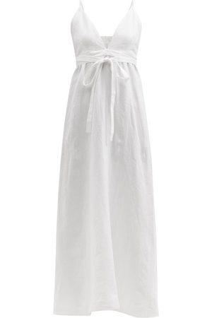 Casa Raki Selva Tie-waist Organic-linen Dress - Womens