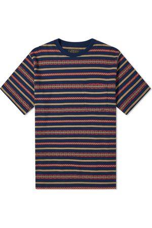 Beams Men T-shirts - Jacquard Stripe Pocket Tee