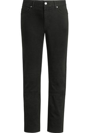 Ermenegildo Zegna Men Straight - Logo patch straight-leg jeans