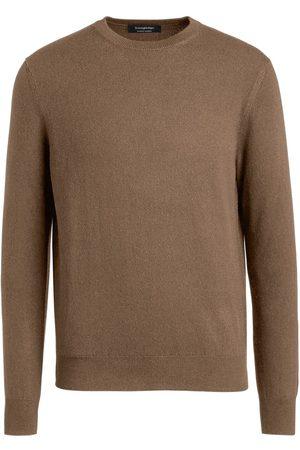 Ermenegildo Zegna Men Sweatshirts - Cashmere crew-neck jumper - Neutrals