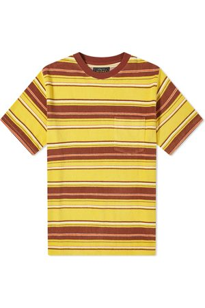 Beams Men T-shirts - Pile Stripe Pocket Tee