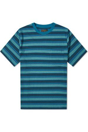 Beams Men T-shirts - Multi Stripe Pocket Tee