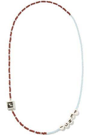 Fendi Men Necklaces - Logo-beaded Necklace - Mens - Multi