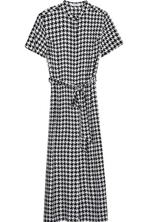 Equipment Women Printed Dresses - Hound's tooth-print dress
