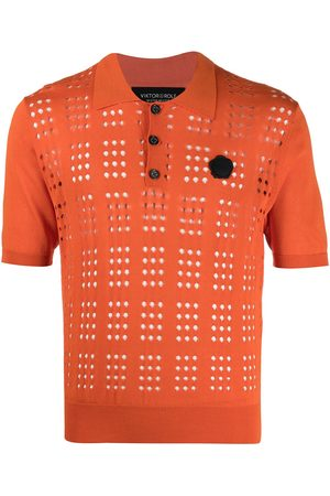 Viktor & Rolf Men Polo Shirts - Open-knit polo shirt