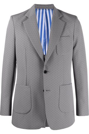 Viktor & Rolf Perforated-detail single-breasted suit - Grey