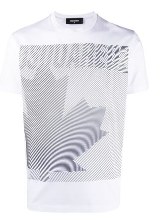Dsquared2 Leaf-print crew neck T-shirt